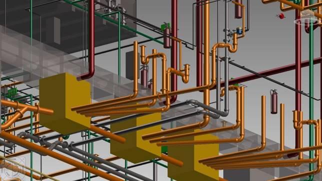 BIM Plumbing & Sanitary pipe