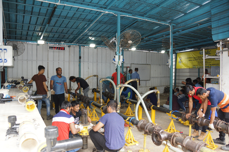 Our practical training - Gas Pipefitting (Underground)